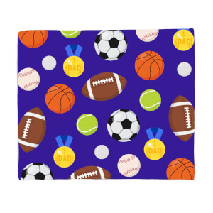 Sports Dad Fleece Blanket