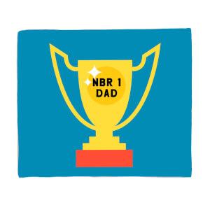 Nbr 1 Dad Cup Fleece Blanket