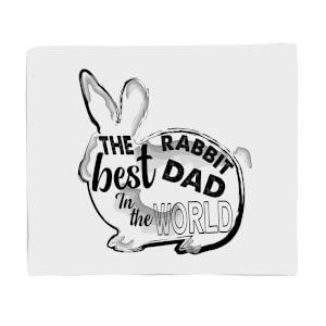 Rabbit Dad Fleece Blanket