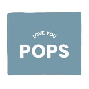 Love You Pops Fleece Blanket