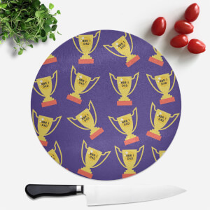 Nbr 1 Dad Trophy Round Chopping Board