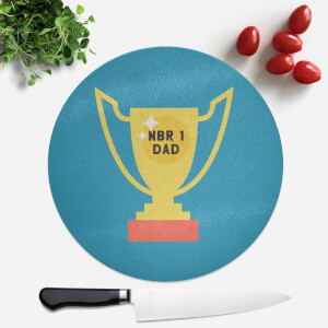 Nbr 1 Dad Cup Round Chopping Board