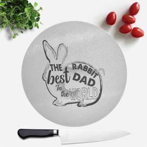 Rabbit Dad Round Chopping Board