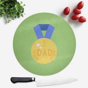 Dad Medal Round Chopping Board