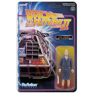 Super7 Back To The Future 2 ReAction Figure - Biff Tannen Bathrobe Action Figure