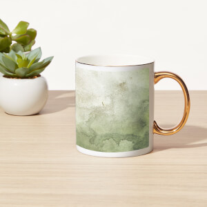 Smoky Marble Bone China Gold Handle Mug