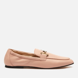 Tod's Women's Double T Leather Loafers - Rosa Kiss