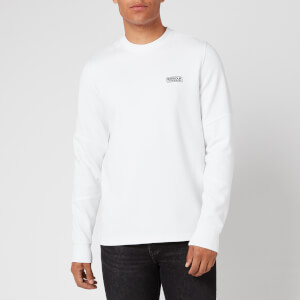 Barbour International Men's Decal Long Sleeve T-Shirt - White