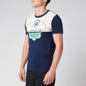 Lanvin Men's Colour Block T-Shirt - Navy Blue