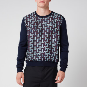 Lanvin Men's Wool Knit Jumper - Navy Blue
