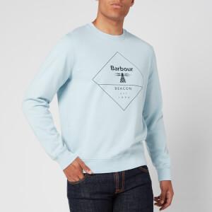 Barbour Beacon Men's Outline Sweatshirt - Pale Sky