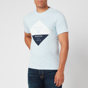 Barbour Beacon Men's Diamond T-Shirt - Pale Sky