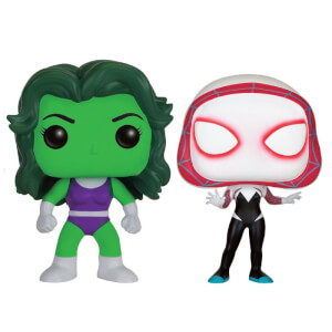 Marvel She-Hulk and Spider-Gwen EXC 2-Pack Pop! Vinyl Figures