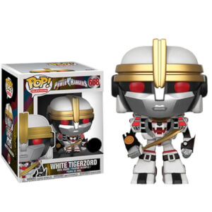 Power Rangers White Tigerzord 6-Inch EXC Funko Pop! Vinyl