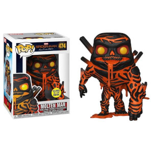 Marvel Spider-Man Far From Home Molten Man GITD EXC Pop! Vinyl Figure