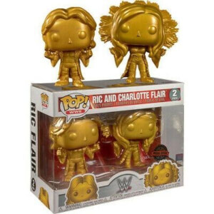 WWE Rick Flair & Charlotte Flair Gold 2-Pack EXC Funko Pop! Vinyl