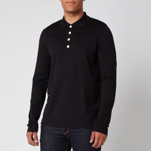 Balmain Men's Foil Side Detail Polo Shirt - Black