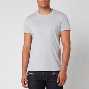 Balmain Men's Embossed Sleeve T-Shirt - Grey