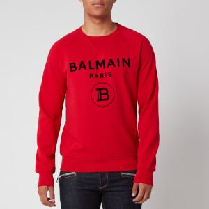 Balmain Men's Flock Sweatshirt - Red/Black