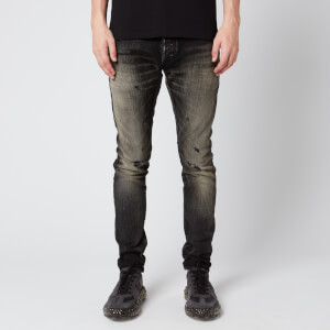 Balmain Men's Selvedge Slim Vintage Jeans - Black