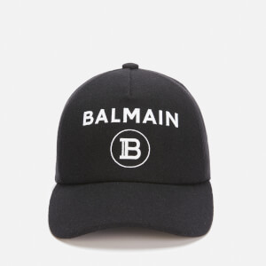 Balmain Men's Wool Flocked Cap - Noir