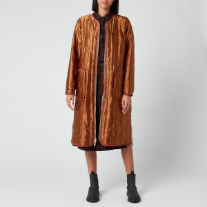 KENZO Women's Reversible Quilted Zipped Coat - Dark Camel