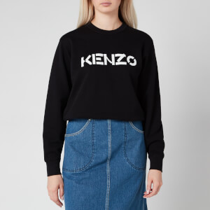 KENZO Women's Classic Fit Sweatshirt KENZO Logo - Black