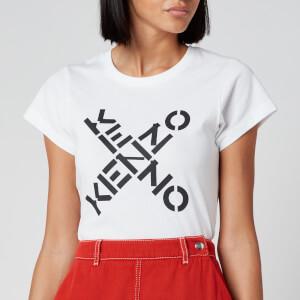 KENZO Women's Small Fit T-Shirt KENZO Sport - White