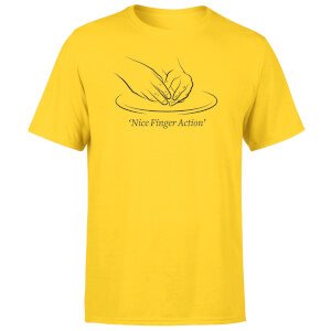 Nice Finger Action Men's T-Shirt - Yellow