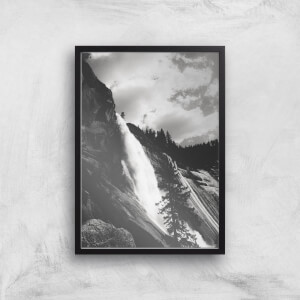 Yosemite Crashing Waterfall Giclee Art Print