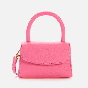 by FAR Women's Mini Grained Shoulder Bag - Hot Pink