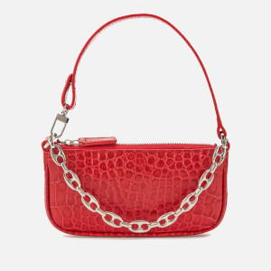by FAR Women's Mini Rachel Croco Shoulder Bag - Red