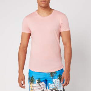 Orlebar Brown Men's OB-T Tailored Fit Crew Neck T-Shirt - Sundown Pink