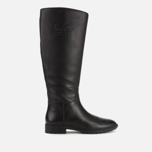 Coach Women's Fynn Leather Knee High Boots - Black