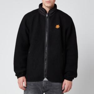 KENZO Men's Lightweight Fleece Zip Up Jacket - Black