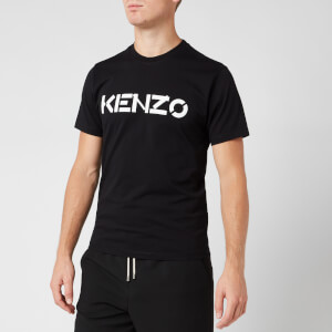 KENZO Men's Bi-Colour Logo T-Shirt - Black