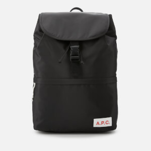 A.P.C. Men's Protection Snap Buckle Backpack - Black