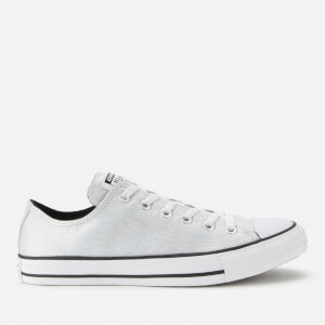 Converse Women's Chuck Taylor All Star Ox Trainers - Silver/Black/White