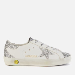 Golden Goose Deluxe Brand Kids' Superstar Trainers - White/Silver