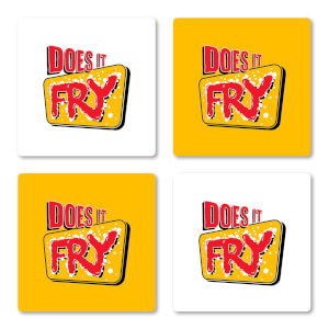 Does It Fry Coaster Set