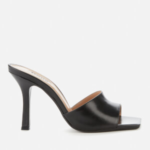 Dune Women's Mantra Leather Heeled Mules - Black