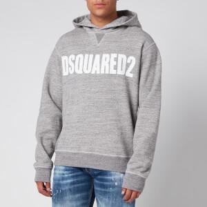 Dsquared2 Men's Cool Fit Logo Hoodie - Grey Melange/White