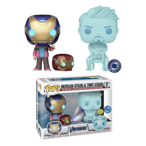 PIAB EXC Marvel Morgan & Hologram Tony Stark with Helmet EXC Funko Pop! Vinyl 2 Pack