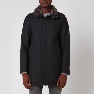Herno Men's Fur Collar Car Coat - Grey