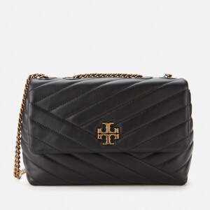 Tory Burch Women's Kira Chevron Small Convertible Shoulder Bag - Black
