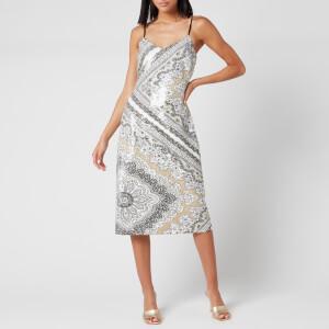 MICHAEL MICHAEL KORS Women's Scarf Bias Sequin Slip Dress - Bone