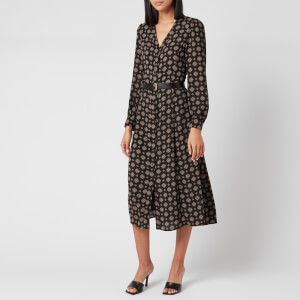 MICHAEL MICHAEL KORS Women's Print Midi Dress - Black
