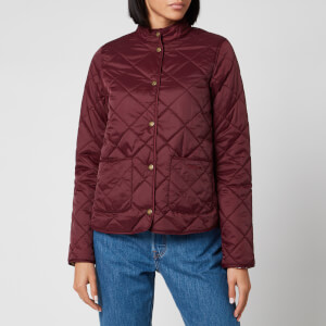 Barbour X Laura Ashley Women's Elm Quilt Coat - Bordeux/Indienne