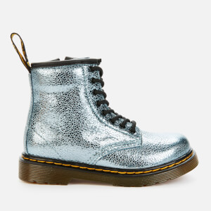 Dr. Martens Toddlers' 1460 Crinkle Metallic Lace-Up Boots - Teal