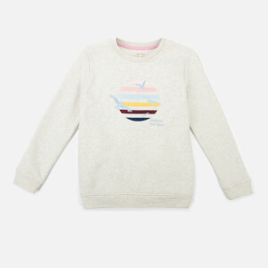 Barbour Heritage Girls' Tern Overlayer Sweatshirt - Cloud Marl